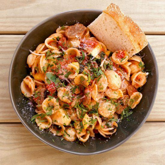 Orecchiette Sausage Zucchini